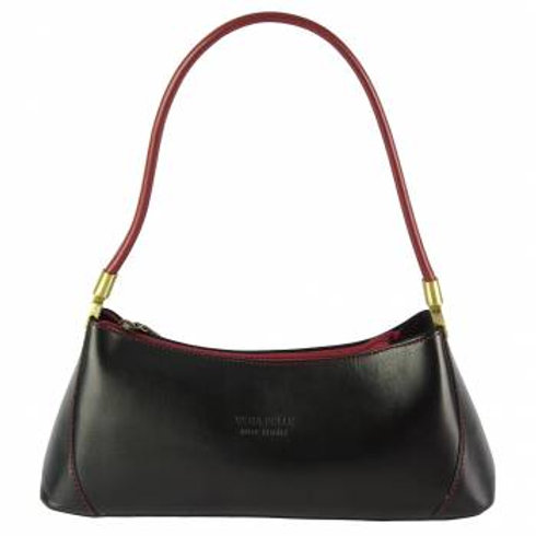 Cirilla Dainty Shoulder Bag (Black/Red)