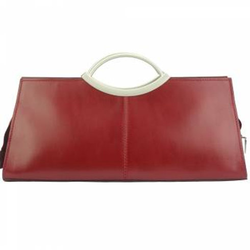 Cipressino Double Handle Calf Leather Bag - Red