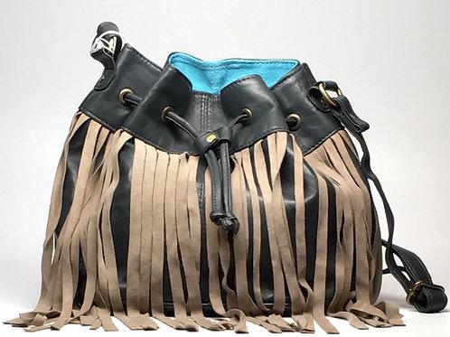 Moroccan Fringe Bag (Blue)