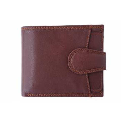 Men's Tab Closure Wallet (Brown)