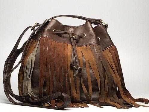 Moroccan Fringe Bag (Brown)