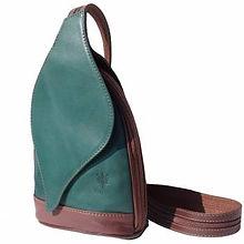 Italian Leather Leaf Backpack