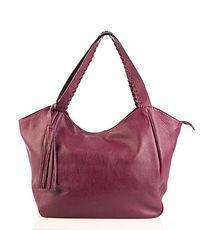 Italian Leather Burgundy Hobo Bag