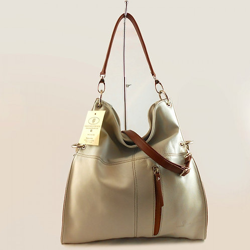 Luxurious Convertible Hobo Bag (Beige)