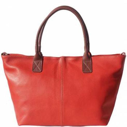 Work/Shopping Tote Bag (Dk Red/Brown)