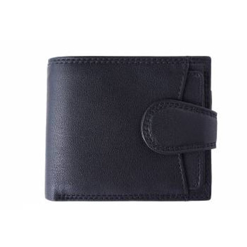 Men's Tab Closure Wallet (Black)