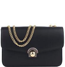 Italian Leather Black Chain Strap Bag