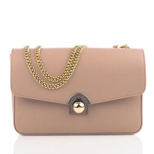 Elegant Shoulder Bag with Chain Strap (Powder Pink)