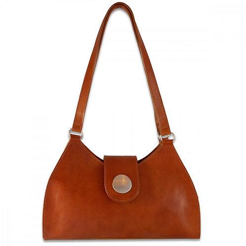 Tuscany Button Bag - Cognac