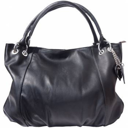 Large Soft Calf Leather Hobo Bag (Black)