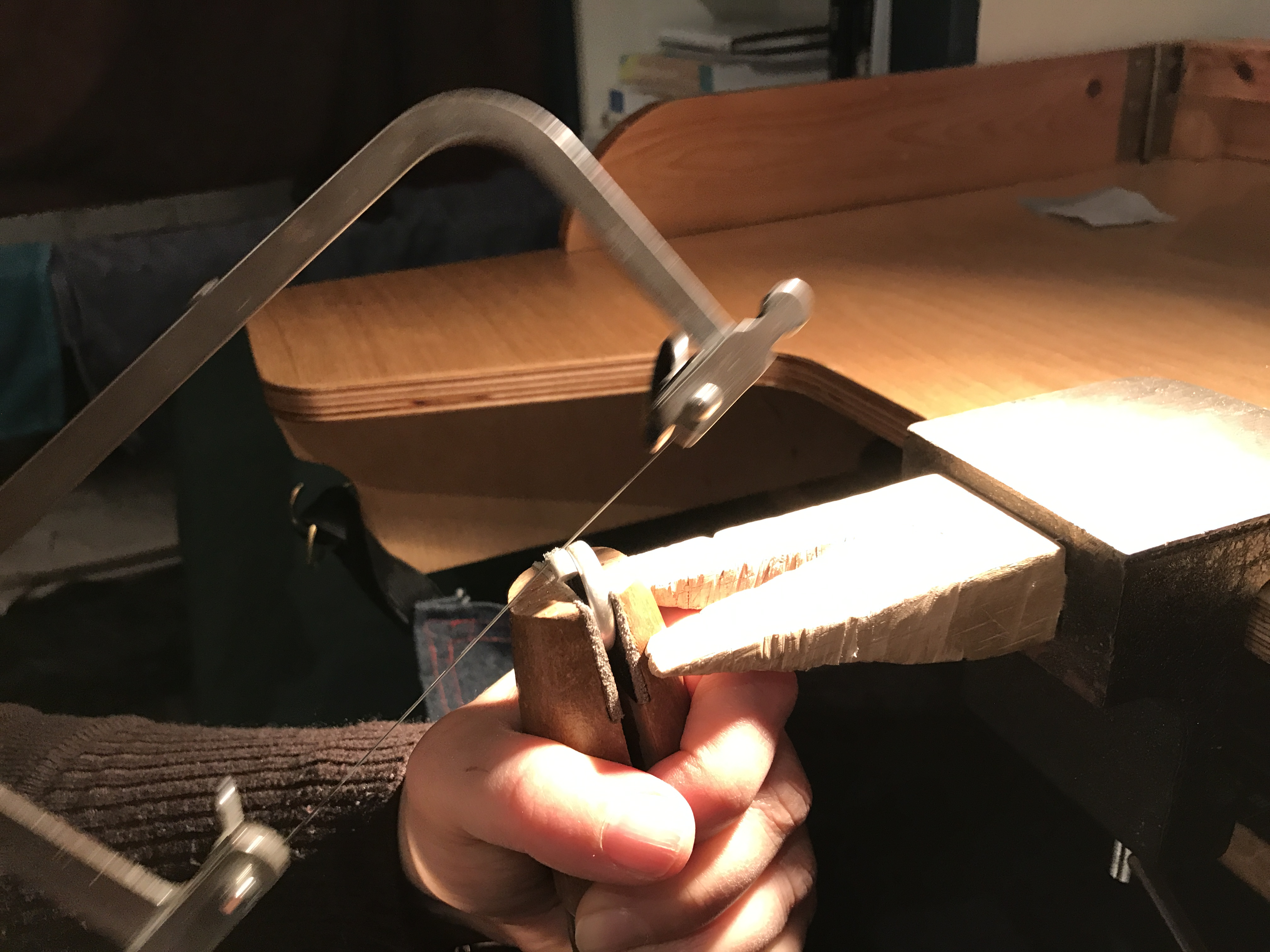 Sawing silver