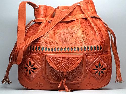 Moroccan Bucket Bag (Russet Orange)
