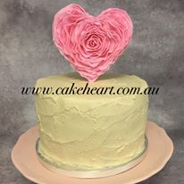 heart cake close up