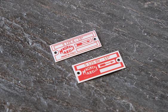 Magneti marelli s125a s125bx distributor id tag