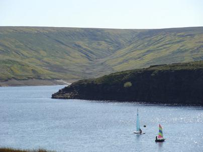 Sailing boats on Winscar Reservoir