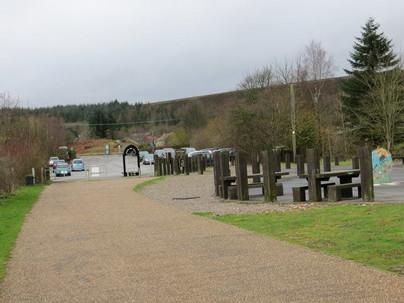 Dunford Bridge car park and picnic benches