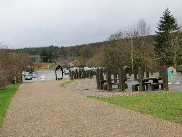 Dunford Bridge car park and picnic benches