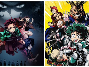 New York Times' Graphic Bestseller List features My Hero Academia & Demon Slayer