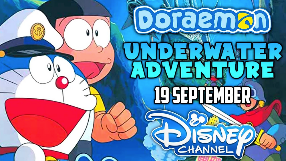 Doraemon The Movie: Underwater Adventure to Air on Disney Channel India on September 19