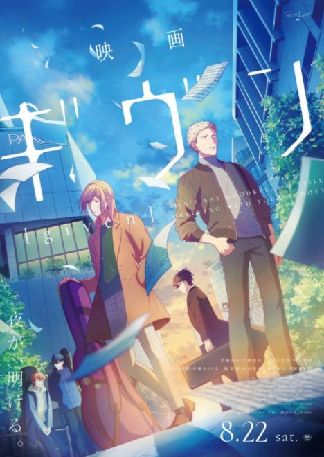 The anime film adaptation of Natsuki Kizu's boys-love manga Given has earned a total of 220 million yen from its two-month domestic run. Visit our website otaku in town to read the full article...
