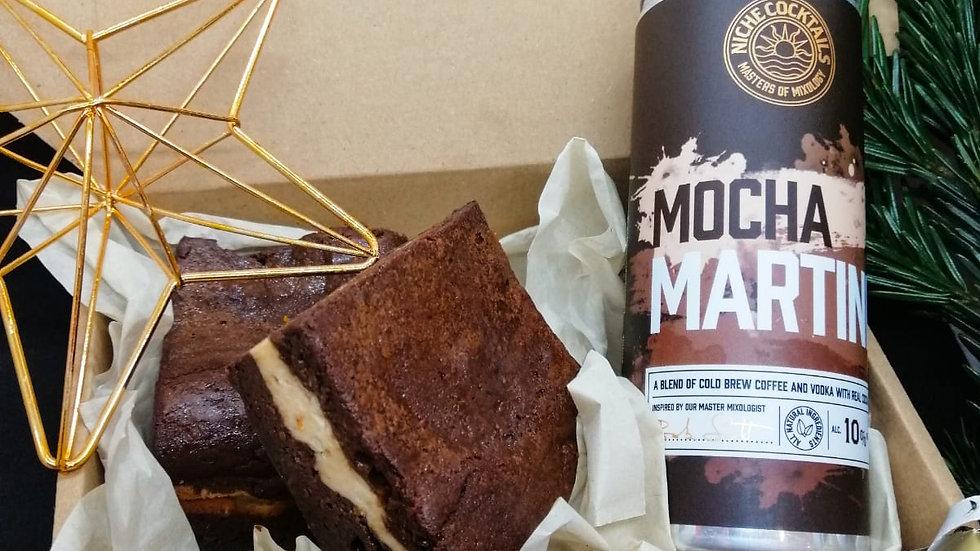 Tiramisu Brownies + Mocha Martini Gift Box