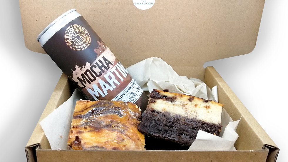 Tiramisu Brownies + Mocha Martini Gift Box