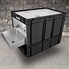 EuroWash mobiles Handwaschbecken schwarz
