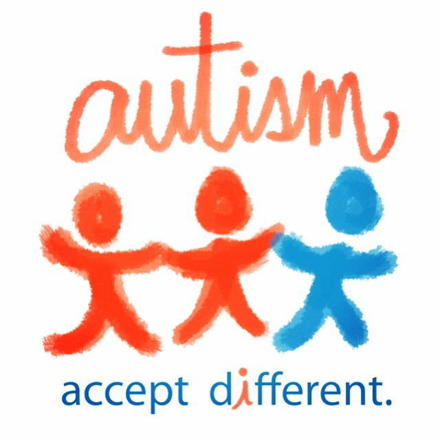 Standing out in blue for world autism awareness day! Let's bring awareness on!