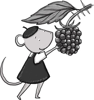 From the Mouse Scout Handbook: Blackberries!