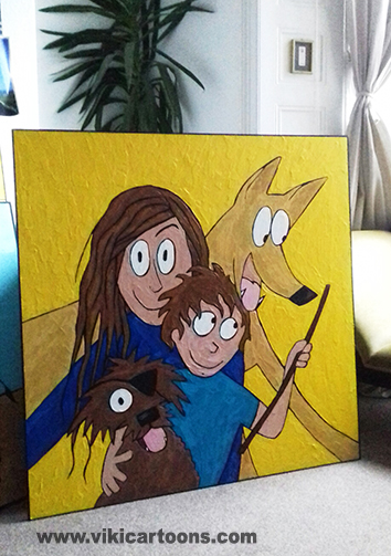 Family Selfie-Painting