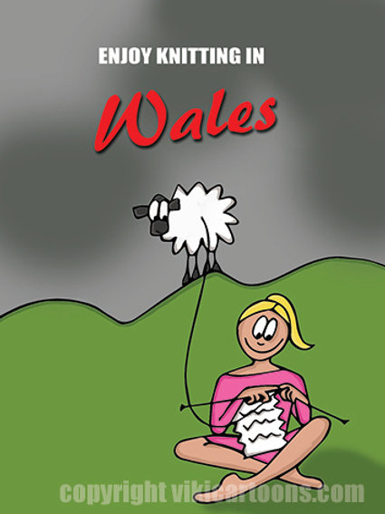 ENJOY KNITTING IN WALES Postcard
