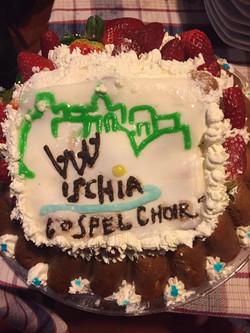 2019 - Ischia Gospel Choir torta fatta da Margherita Scala (postiamo in suo ricordo)
