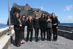 2019 - Ischia Gospel Choir con lo sfondo del Castello Aragonese