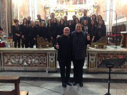 2018 - Mº Aurelio Pitino con don Carlo Candido e gli Anno Domini Gospel Singers
