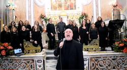 Febbraio 2020 - Ischia Gospel Choir & Roma Gospel Choir in concerto. In primo piano il Mº Aurelio Pi
