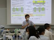 枚方高校生物飼育部の皆さんが応用生物科学科で実験体験をしました