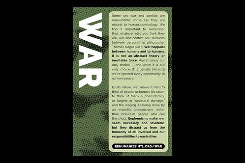 War Info Cards (Pack of 30)