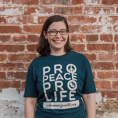 Pro-Peace Pro-Life Shirts