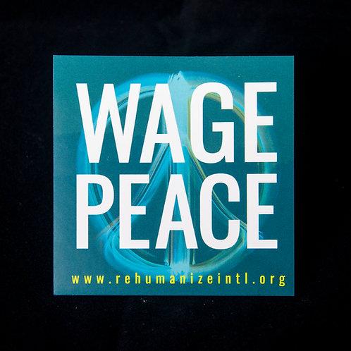 Wage Peace Sticker