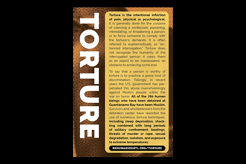 Torture Info Cards (Pack of 30)