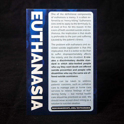 Euthanasia Info Cards (Pack of 30)