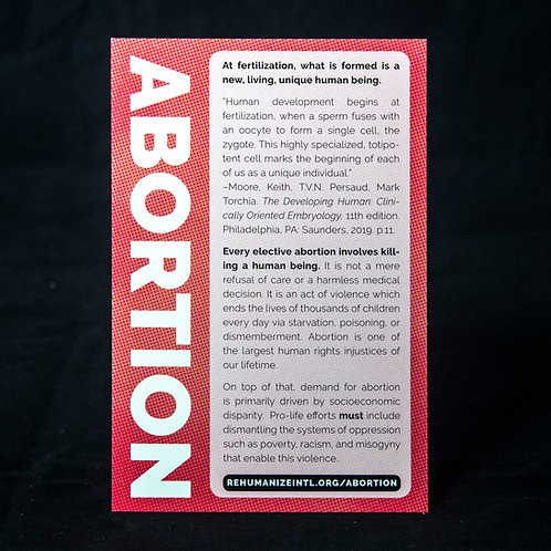Abortion Info Cards (Pack of 30)