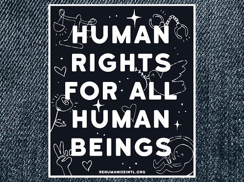 Human Rights for All Human Beings Patch (Alternate Design, Large)