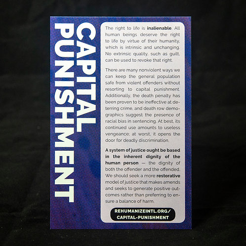 Capital Punishment Info Cards (Pack of 30)