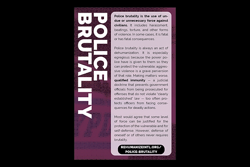 Police Brutality Info Cards (Pack of 30)