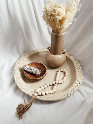 Collier perles de bois naturelles