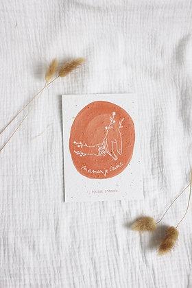 """Carte à planter """"Maman je t'aime"""" by Pousse d'Amour"""