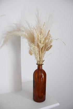 Bouquet Sunny + Vase (ambré)