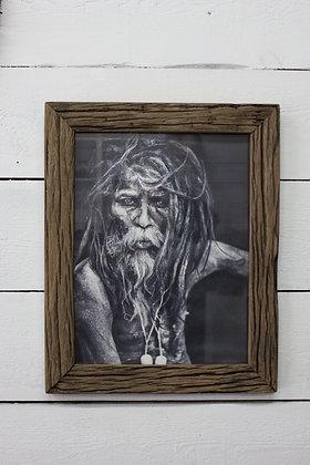 Cadre en bois vintage