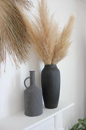 Vase anthracite